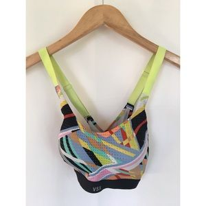 Victoria's Secret VSX Neon Abstract Sport Bra